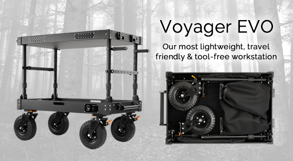 Voyager EVO Cart - Our most lightweight, travelfriendly & tool-free workstation